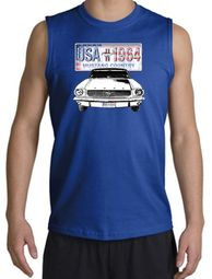 Ford Mustang Shooter Shirts - USA 1964 Country Adult Muscle Shirts