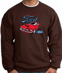 Ford Mustang Sweatshirt - Chairman Of The Ford Adult Brown Sweat Shirt
