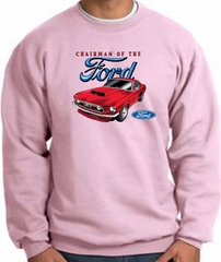 Ford Mustang Sweatshirt - Chairman Of The Ford Adult Pink Sweat Shirt