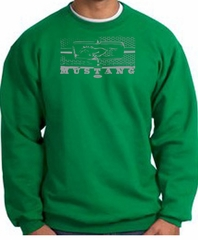 Ford Mustang Sweatshirt Legend Honeycomb Grille Kelly Green Sweatshirt