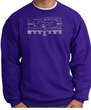 Ford Mustang Sweatshirt Legend Honeycomb Grille Purple Sweat Shirt