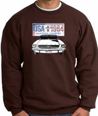 Ford Mustang Sweatshirt - USA 1964 Country Adult Brown Sweat Shirt