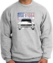 Ford Mustang Sweatshirt USA 1964 Country Athletic Heather Sweat Shirt