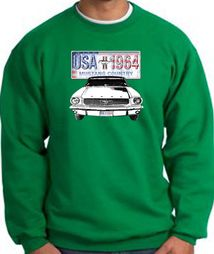 Ford Mustang Sweatshirt USA 1964 Country Kelly Green Sweat Shirt