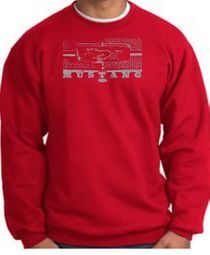 Ford Mustang Sweatshirts Legend Honeycomb Grille Adult Sweat Shirts