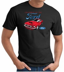 Ford Mustang T-Shirt - Chairman Of The Ford Adult Black Tee