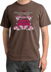 Ford Mustang T-Shirt Girls Run Wild  Pigment Dyed Tee Chestnut