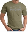 Ford Mustang T-Shirt - Legend Honeycomb Grille Adult Army Tee