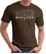 Ford Mustang T-Shirt - Legend Honeycomb Grille Adult Brown Tee
