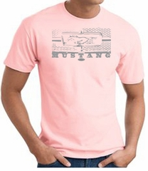 Ford Mustang T-Shirt - Legend Honeycomb Grille Adult Pink Tee