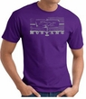 Ford Mustang T-Shirt - Legend Honeycomb Grille Adult Purple Tee