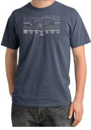 Ford Mustang T-shirt Legend Honeycomb Grille Pigment Dyed Shirts