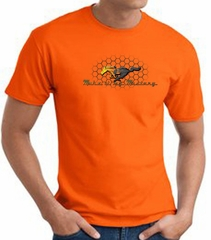 Ford Mustang T-shirt - Make It My Mustang Grill Adult Orange Tee Shirt