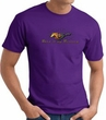 Ford Mustang T-shirt - Make It My Mustang Grill Adult Purple Tee Shirt