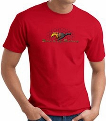 Ford Mustang T-shirt - Make It My Mustang Grill Adult Red Tee Shirt