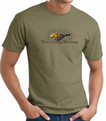 Ford Mustang T-shirt Make It My Mustang Grill Army Green Tee Shirt