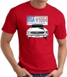 Ford Mustang T-Shirt - USA 1964 Country Adult Red Tee Shirt