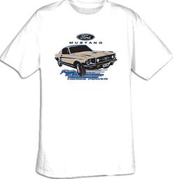 Ford Mustang T-Shirts - Horsepower Adult Tee Shirts