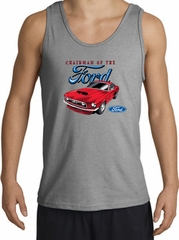 Ford Mustang Tank Top - Chairman Of The Ford Adult Sports Grey Tanktop
