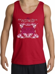 Ford Mustang Tank Top - Girls Run Wild Adult Red Tanktop