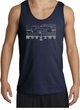 Ford Mustang Tank Top - Legend Honeycomb Grille Adult Navy Tanktop
