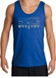 Ford Mustang Tank Top - Legend Honeycomb Grille Adult Royal Tanktop