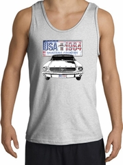Ford Mustang Tank Top - USA 1964 Country Adult Ash Tanktop