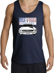Ford Mustang Tank Top - USA 1964 Country Adult Navy Tanktop