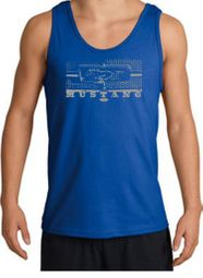 Ford Mustang Tank Tops - Legend Honeycomb Grille Adult Tanktops