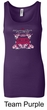Ford Mustang Tanktop Girls Run Wild Ladies Longer Length Tank Top