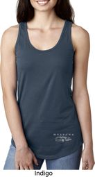 Ford Mustang with Grill Bottom Print Ladies Ideal Tank Top