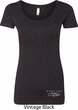 Ford Mustang with Grill Bottom Print Ladies Scoop Neck Shirt