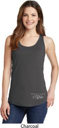 Ford Mustang with Grill Bottom Print Ladies Tank Top
