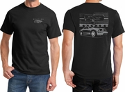 Ford Mustang with Grill Front & Back Shirts