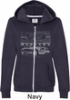 Ford Mustang with Grill Ladies Full Zip Hoodie