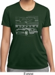 Ford Mustang with Grill Ladies Moisture Wicking Shirt