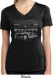 Ford Mustang with Grill Ladies Moisture Wicking V-neck Shirt