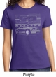 Ford Mustang with Grill Ladies Shirt