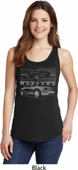 Ford Mustang with Grill Ladies Tank Top