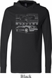 Ford Mustang with Grill Lightweight Hoodie Tee