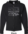 Ford Mustang with Grill Mens Full Zip Hoodie