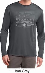 Ford Mustang with Grill Mens Moisture Wicking Long Sleeve Shirt
