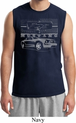 Ford Mustang with Grill Mens Muscle Shirt