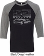 Ford Mustang with Grill Mens Raglan Shirt