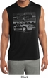 Ford Mustang with Grill Mens Sleeveless Moisture Wicking Shirt