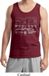 Ford Mustang with Grill Mens Tank Top