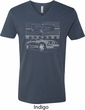 Ford Mustang with Grill Mens V-Neck Shirt