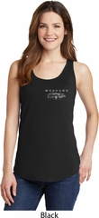 Ford Mustang with Grill Pocket Print Ladies Tank Top