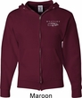 Ford Mustang with Grill Pocket Print Mens Full Zip Hoodie