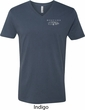 Ford Mustang with Grill Pocket Print Mens V-Neck Shirt